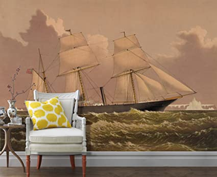 baaea6179101 Ori Gallery - Removable Wall Mural  Arctic Exploring Yacht Jeannette ...