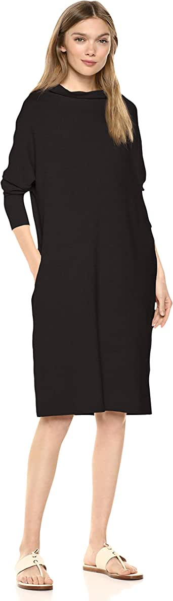 Daily Ritual Amazon Brand Women's Supersoft Terry Modern Funnel-Neck Dress