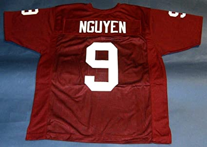 official photos 4ce40 3df00 Amazon.com: DAT NGUYEN MAROON TEXAS A&M CUSTOM STITCHED NEW ...