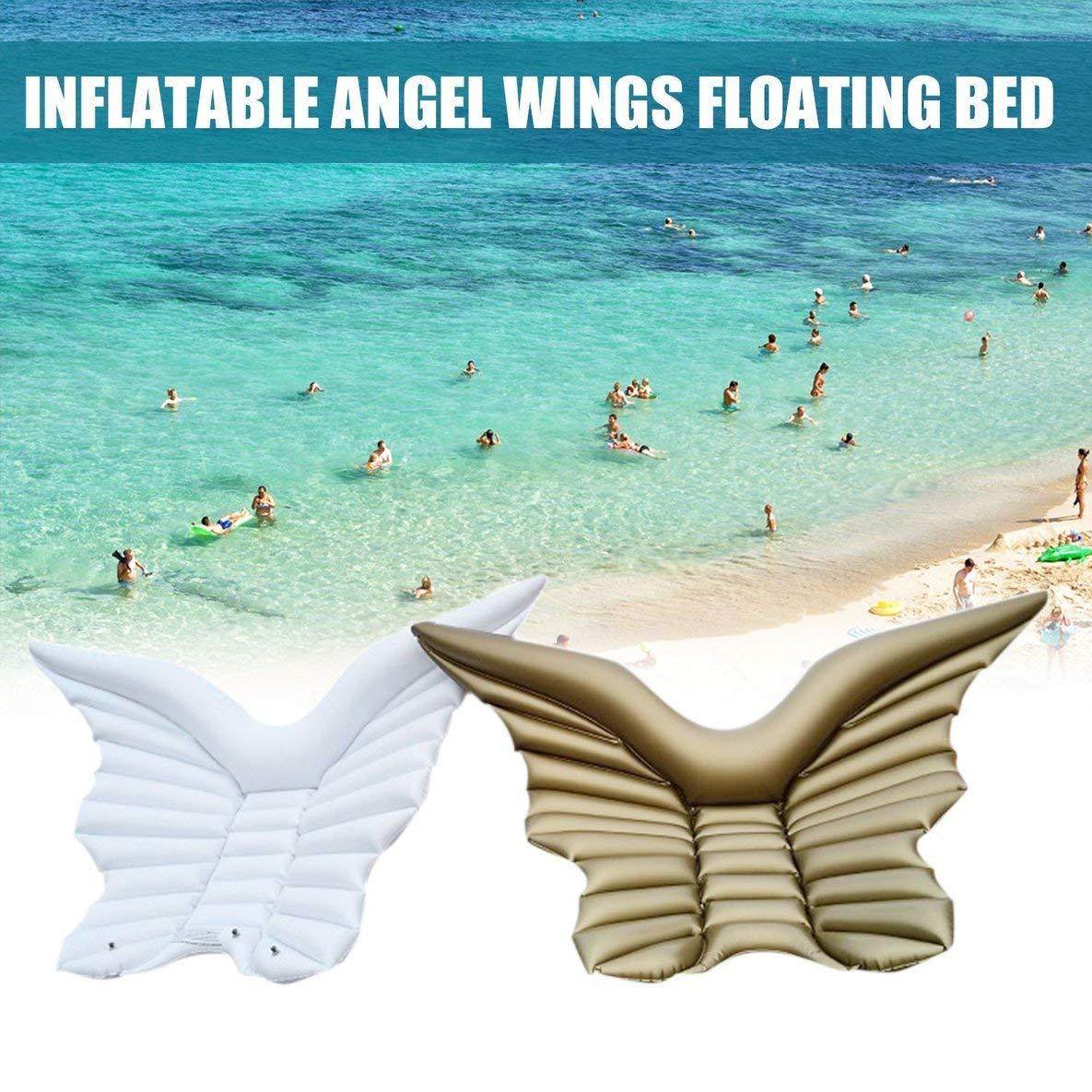 Moliies Inflables alas de ángel Flotador de la Piscina de Juguete Tumbona con válvulas rápidas: Amazon.es: Juguetes y juegos