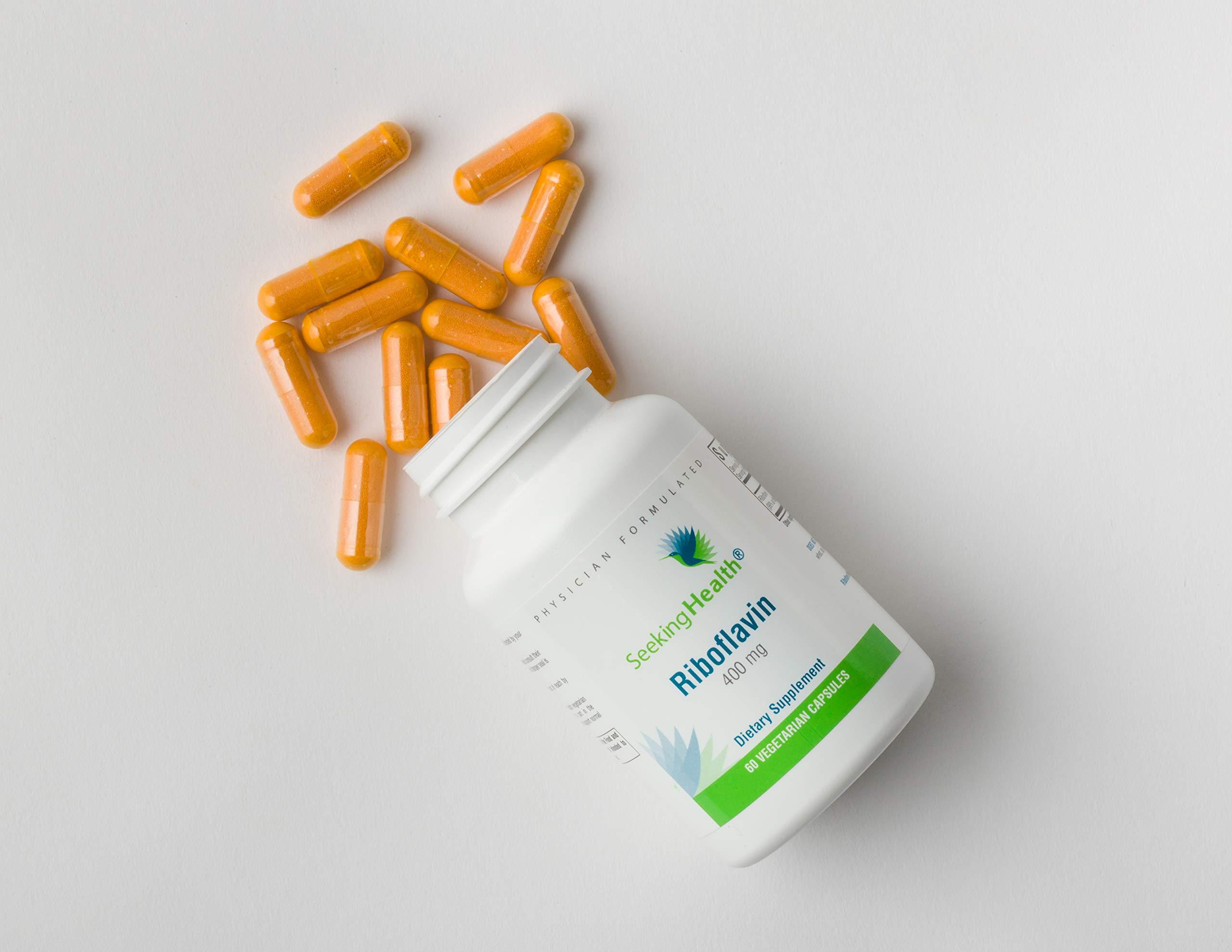 Riboflavin   60 Vegetarian Capsules   Seeking Health   400 mg Riboflavin   Vitamin B2