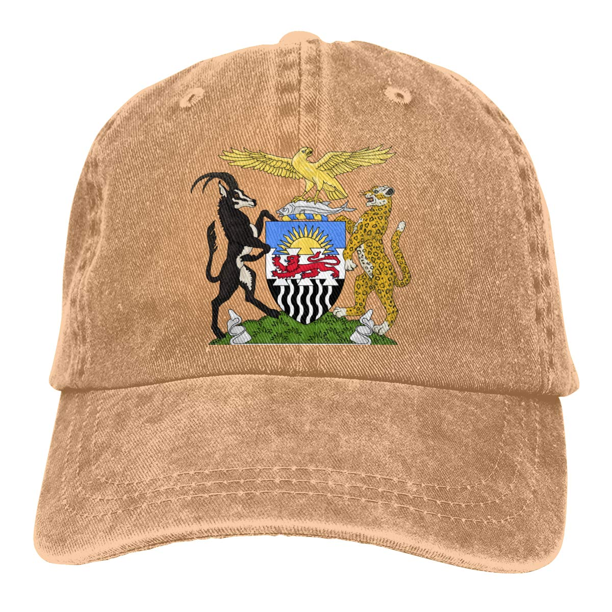 KioHp Coat of Arms of The Federation of Rhodesia and Nyasaland Classic Plain Unisex Vintage Great Baseball Cap Fit Outdoor Activities Quick Drying Low Profile Hat