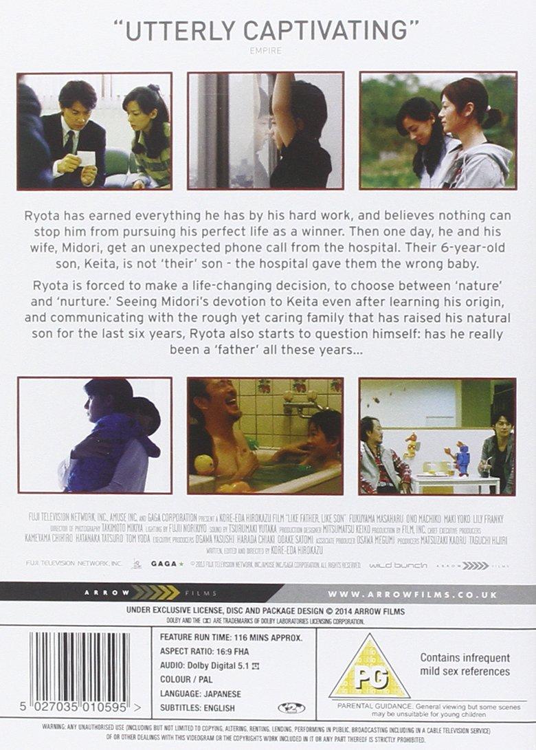 Like father like son dvd amazon masaharu fukuyama like father like son dvd amazon masaharu fukuyama machiko ono yko maki hirokazu kore eda dvd blu ray amipublicfo Image collections