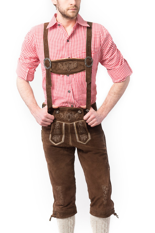 Obtén lo ultimo Tannhauser 0108-04-58 0108-04-58 0108-04-58 - lederhosen Rudi de ante calzón corto, de color marrón oscuro  solo para ti