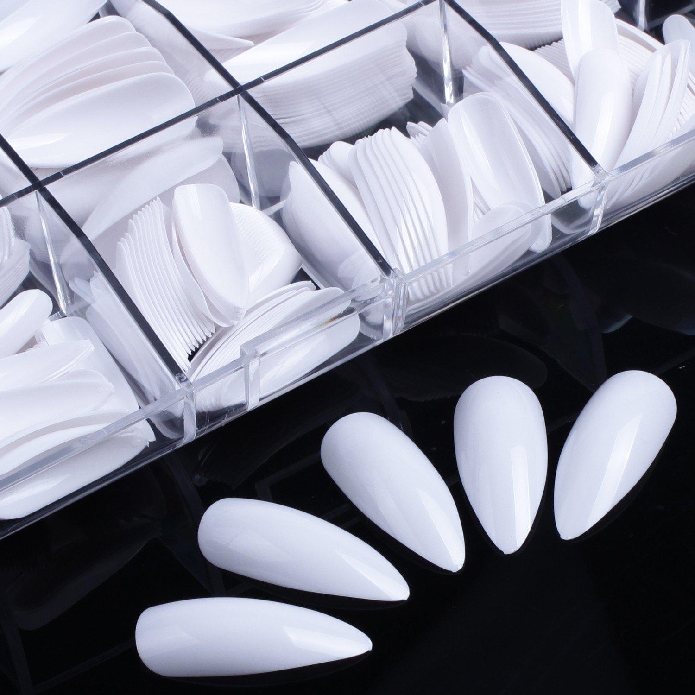 Amazon.com : ECBASKET 500 PCS Coffin Nails Long Ballerina Fake Nail ...