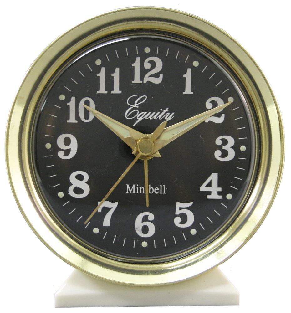 B000VPCCJ6 Equity by La Crosse 12020 Key-Wound Alarm Clock, White 71al93NV2BVL