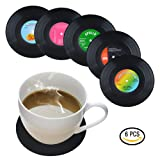 Coasters for Drinks by HIRUN - Set of 6 Vinyl