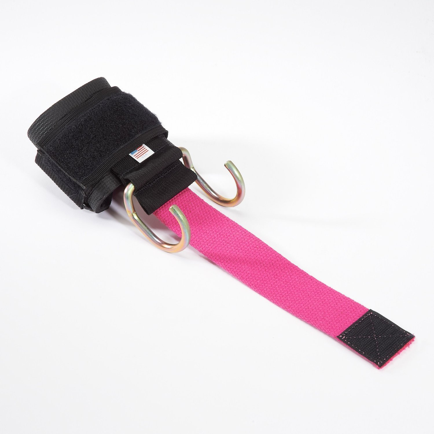 LPG Muscle Haulin' Hooks WOMEN'S Weightlifting Hooks and Straps (Pair), Pink