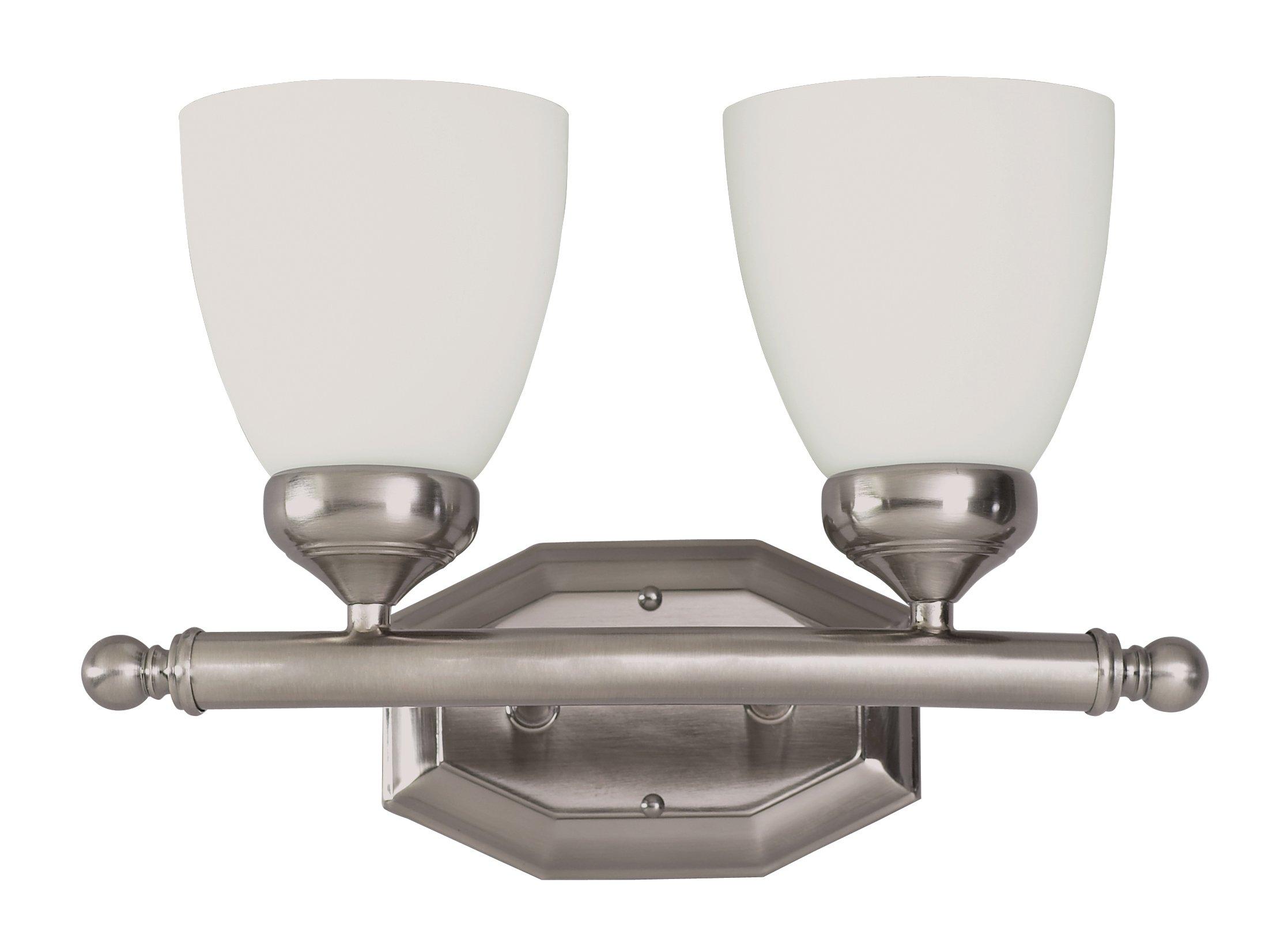 Trans Globe Lighting 2512 BN Indoor  Ashlea 16'' Vanity Bar, Brushed Nickel