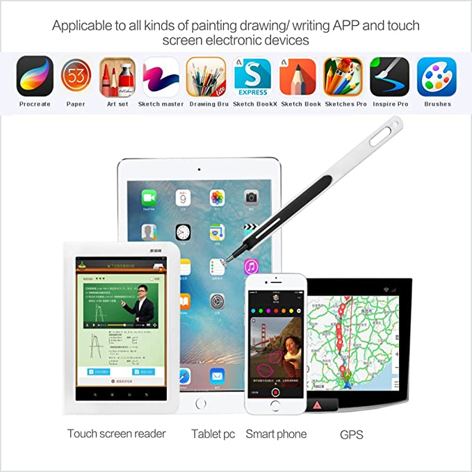 CADA drawing stylus for capacitive screen iPad iPhone Android Amazon Kindle  Windows screen stylus touch pen drawing on tablet glass stylus pen