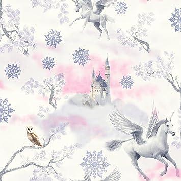 Fairytale Unicorn Wallpaper Lilac Arthouse 667801 Amazon Com