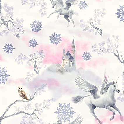 Fairytale Unicorn Wallpaper Lilac Arthouse 667801 Amazon Co Uk