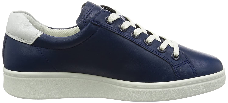 Ecco Damen Damen Ecco Soft 4 Derby Blau (50446true Navy/Weiß) 18f592
