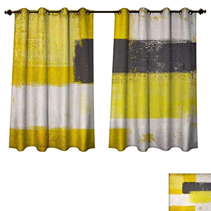 Amazoncom Anzhouqux Grey And Yellow Bedroom Thermal