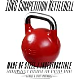 HCE Competition Kettlebell 10kg Professional Grade Steel Russian Kettlebell Weights Ideal for Home Gym Fitness & Sports Workout, CrossFit, MMA, Body Building, Power Weightlifting, Snatches, Squats, Lunges, Bench Press