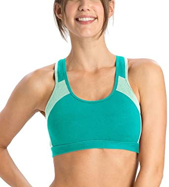 88dd09cd40 Jockey Women s Cotton Padded Active Bra 1380 (JTEAL-MINTMEL)  Amazon.in   Clothing   Accessories