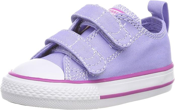 Converse CTAS 2V Ox, Chaussons Souples Mixte bébé, Violet