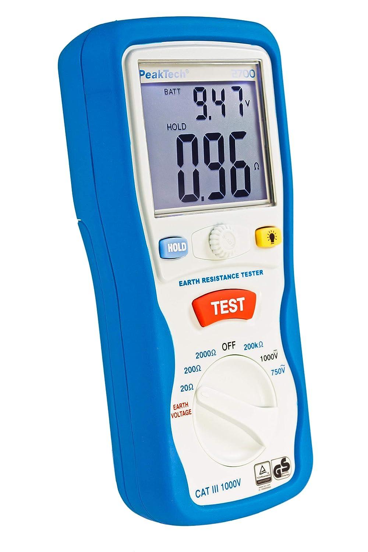 PeakTech 2700 - Probador Digital con Pantalla LCD Doble y 2 ...