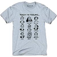 Headline Shirts Nicolas Cage Mood Board Funny Graphic Screen Printed Crewneck T-Shirt for Men
