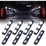 Xprite White Truck Pickup Bed Light Kit, 24 Led Cargo Rock Lighting Kits w/Switch for Van Off-Road Under Car, Side…