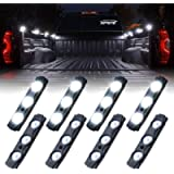 Xprite White Truck Pickup Bed Light Kit, 24 Led Cargo Rock Lighting Kits w/Switch for Van Off-Road Under Car, Side…