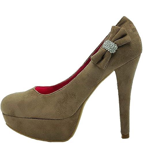 Ditalia Para Mujer Fratelli Terciopelo Vestir De Marrón Zapatos D2HIE9