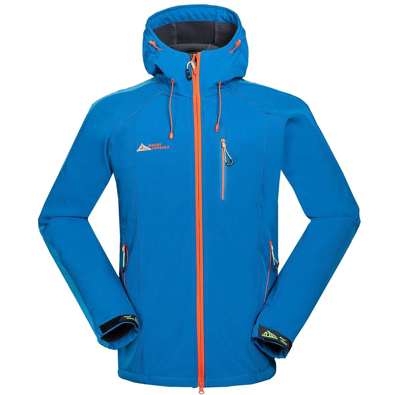 Mount Conquer Herren Softshelljacke Fleecefutter Winddicht Wasserdicht Atmungsaktiv Outdoor Trekking Wandern Sport Jacke