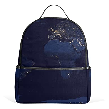 Mrweng world map printed canvas backpack for girl and children mrweng world map printed canvas backpack for girl and children gumiabroncs Images