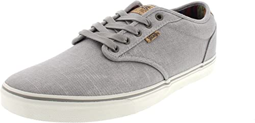 Vans Atwood Deluxe, Sneakers Basses homme, Gris (Washed TwillGrayMarshmallow)