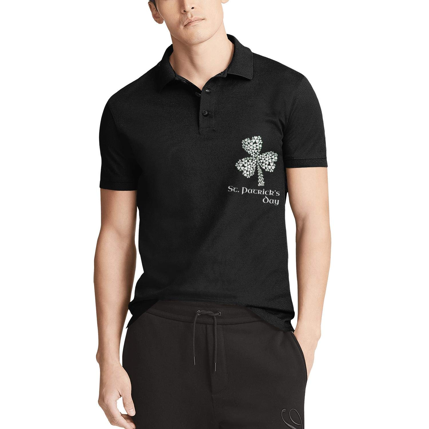 Patricks Day Unique Short Sleeve T-Shirt WYFEN Men Printed Polo Shirt History of St
