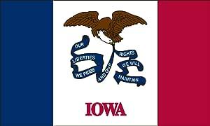 Heath Outdoor 35016 3-Feet by 5-Feet Iowa Flag
