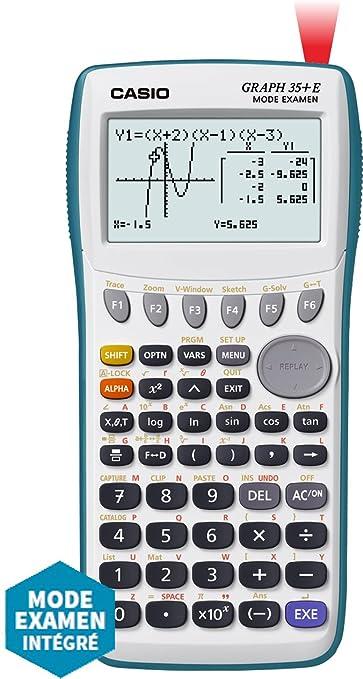Casio Graph 35 E Calculatrice Graphique Usb Avec Mode Examen Amazon Fr Fournitures De Bureau