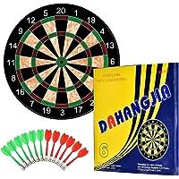 TechSmile Kinder 17 Zoll magnetische Dartscheibe mit 12 Stk sichere Dartpfeile für indoor und outdoor(Sicherer Dartspiel für Kinder)