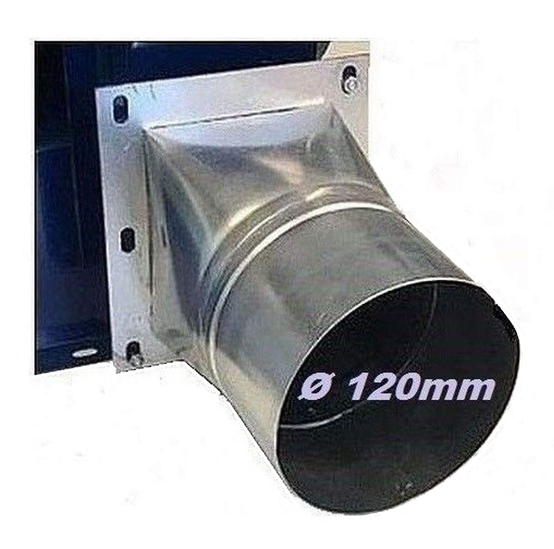 4 esquina/Brida Redonda, 120 mm de diá metro adaptador Tubo Conector Manguera Conector para radial Ventilador radial Ventilador radial Centrí fugo Radial Ventilador Ventiladores Uzman-Versand