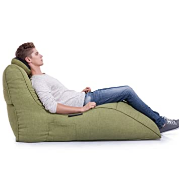 753c8aac72 Ambient Lounge Avatar Lounger Designer Bean Bag with Filling Lime Citrus  Interior Fabric  Amazon.co.uk  Kitchen   Home