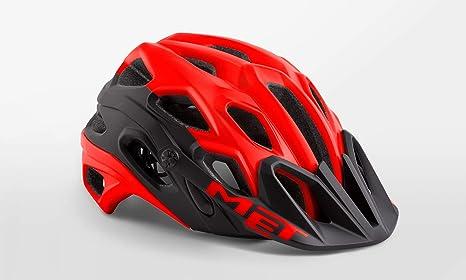 MET - Casco para Bicicleta de montaña, diseño de Lobo, Color Rojo ...