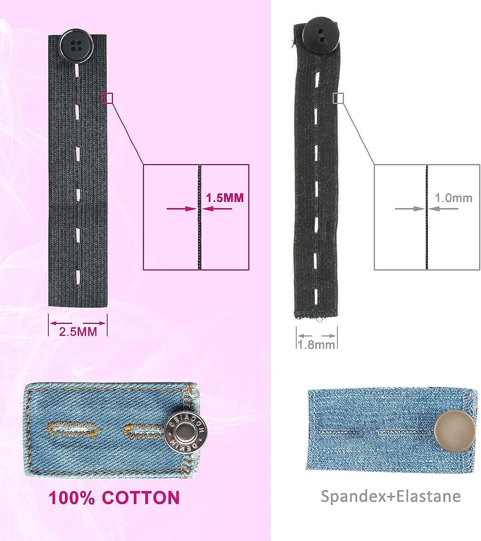 Waist Bouton Extension Rallonge pour Jean Pantalons JMITHA Elargiseur Pantalon R/églables Etenseurs de Taille de