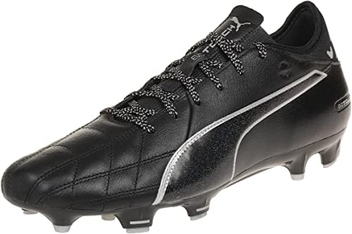 Leather FG Football Boots - Black