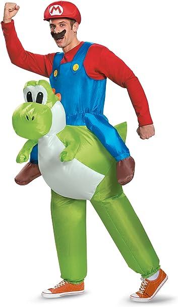 Amazon.com: Disfraz adulto Mario montando Yoshi disfraz ...
