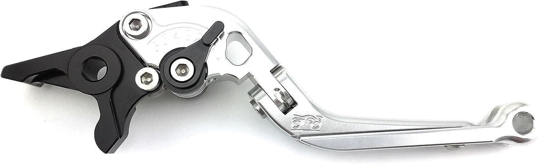 FZ07 2014 2015 2016 2017 2018 /& Tracer//Tracer 700 Paire de leviers ajustables et repliables en aluminium anodis/é pour Yamaha MT07 Argent//Noir FJ-07 2016 2017 2018