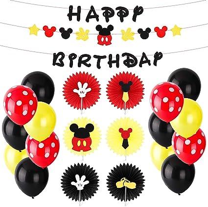 Amazon.com: BeYumi Mickey Mouse Kit de decoración de fiesta ...