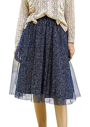 Falda Tul Mujer Otoño Fashion Invierno Elegantes A-Línea Faldas ...