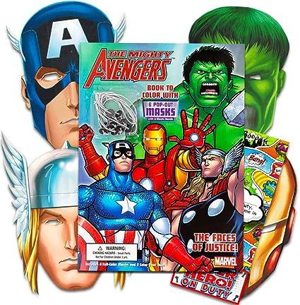 Amazon.com: Los Vengadores de Marvel libro para colorear con ...