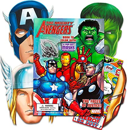 3a59f912742e Amazon.com  Marvel Avengers Coloring Book with 6 Avengers Masks (Pop-Out)   The Incredible Hulk