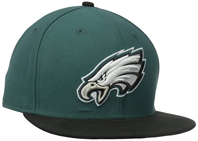 17408f208bc Amazon.com   NFL Mens Philadelphia Eagles On Field 5950 Midnight Green Game  Cap By New Era   Sports Fan Baseball Caps   Clothing