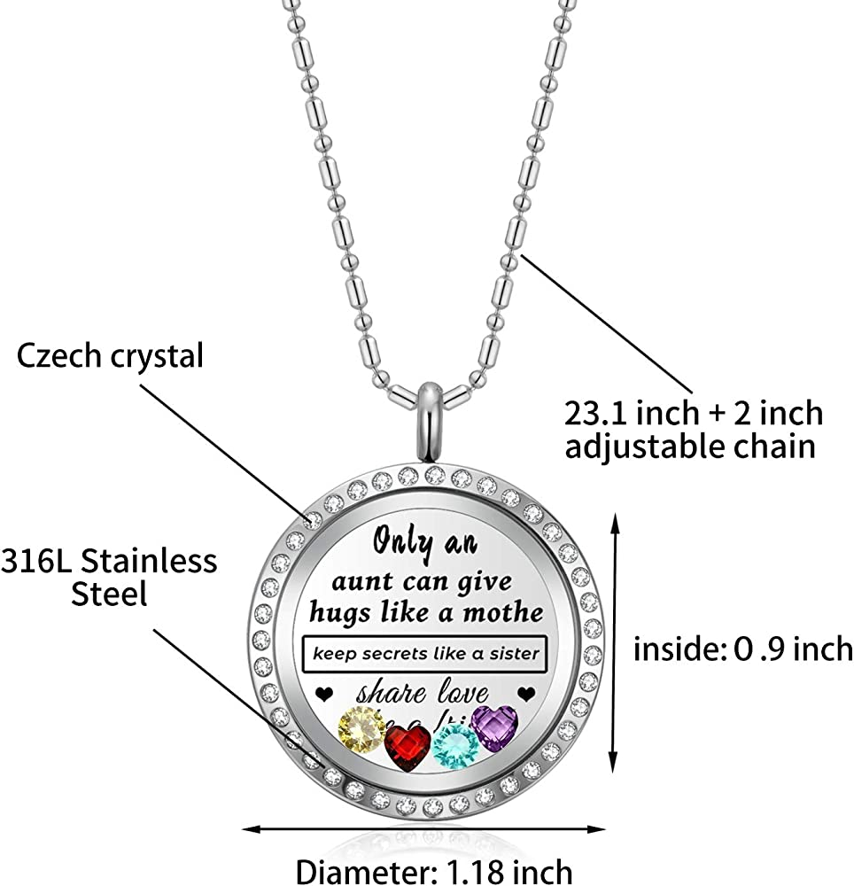 70th Birthday gift Personalised  Floating  Memory Locket Necklace