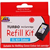 Turbo Refill Kit for canon cl 831 Color ink cartridge