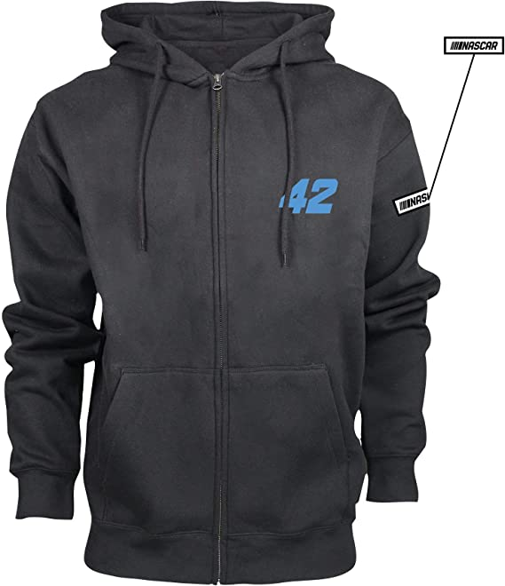 Premium Heather NASCAR Chip Ganassi Kyle Larson Mens M Benchmark FZ HoodM Benchmark FZ Hood 2X