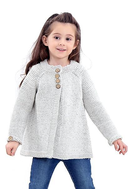 Amazon.com: Saifeier PJ - Chaqueta de punto para bebé o niña ...