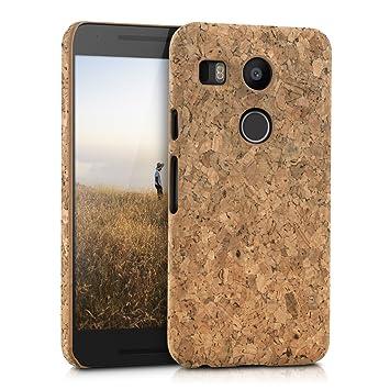 kwmobile Funda para LG Google Nexus 5X - Carcasa Protectora de [Corcho] para teléfono móvil - Cover [Trasero] rígido y Resistente